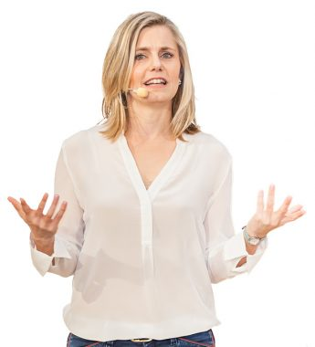 Dr. Verena Thiem beim Vortrag als Business Coach